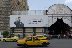 Billboards of President Assad, who seized the mantle of power after his father's death in 2000, appear on almost every street in Damascus.